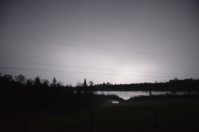 Unedited image of lightning strike over Cobden