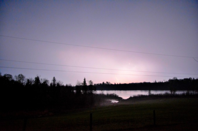 Lightning Stike Storm in Cobden Mother's Day Weeekend 2015